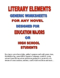 LITERARY PACKET GENERIC WORKSHEETS HIGH SCHOOL OR COLLEGE