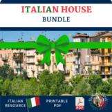 La Casa Italian Home Vocabulary Cornell Note sheet and Act