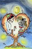La Noche y El Amor Poster 12 X 16