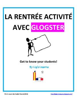 La Rentree Activite avec Glogster/French Back to School Activity