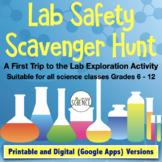 Lab Safety Scavenger Hunt: Safety Activity for First Visit