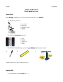 Lab Safety, Tools, and Scientific Method Modified Special