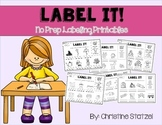 Label It! {No Prep Labeling Printables}