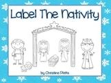 Label The Christmas Nativity