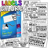 Labels Galore! {A Bilingual Growing Bundle of Labels}