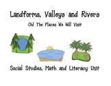 Landforms, Maps Social Studies, Math and Literacy