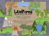 Landforms SMARTboard interactive activity- games and Disco