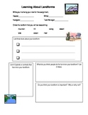 Landforms  SS or Science Groupwork research organizer grea