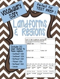 Landforms and Regions Vocabulary Word Sort