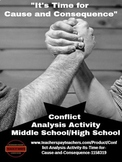 "Conflict Comprehension Activity - ""It's Time for Cause and"