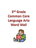 Language Arts Content Word Wall Cards for Third Grade- Com