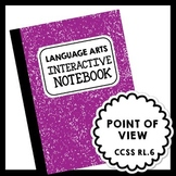 Language Arts Interactive Notebook - Point of View Lesson