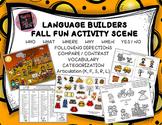 Language Builders Fall Fun Activity Scene