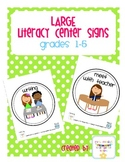 Large Center Signs: grades 1-5