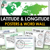 Latitude & Longitude Vocabulary Poster and Word Wall Set