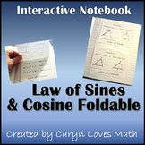 Law of Sine and Law of Cosine Foldable~ For triangles
