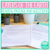 Layers of the Earth - Science Reading Passage with Notes P