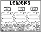 """Leaders/Heroes ARE CAN HAVE & ACT SAY THINK"""" Tree Maps"""