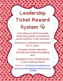 Leadership Ticket Reward System