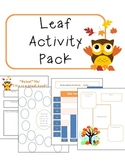 Leaf Activity Pack to Celebrate Fall!