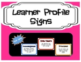 Learner Profile Signs