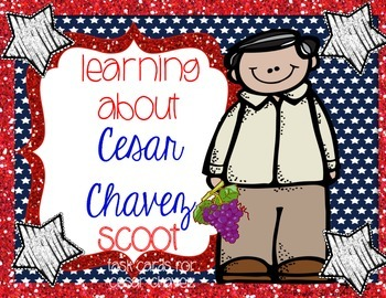 Learning About Cesar Chavez Scoot/ Task Cards