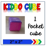 "Learning Cube with pockets 2""x 2"""