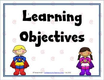 Learning Objectives Posters - Super Kids Theme