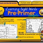 Learning Sight Words: Pre-Primer FREE Sampler