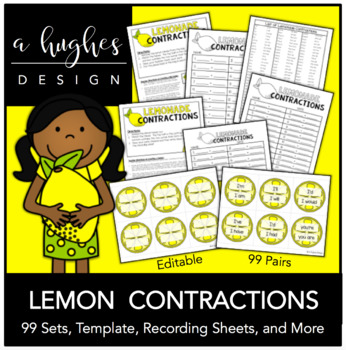 Lemonade Stand Contractions {99 pairs}