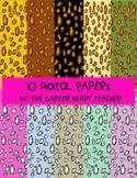 Digital Paper-Leopard Print