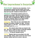 Leprechaun Creative Writing Prompt with pre-writing