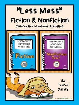 Less Mess Fiction and Nonfiction Interactive Notebook Actvities Bundle