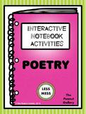 """Less Mess"" Poetry Interactive Notebook Activities"
