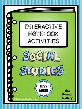 Less Mess Social Studies Interactive Notebook Activities
