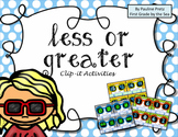 Less or Greater Clip-It Activities - Editable