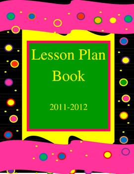 Lesson Plan Book 8 1/2 by 11