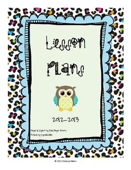 Lesson Plan Printable