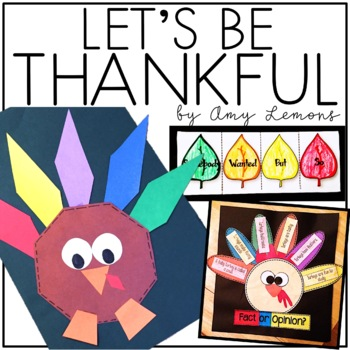 Let's Be Thankful! {Literacy and Thanksgiving Book Activities}