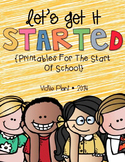 Let's Get It Started {Printables for the Beginning of the Year}