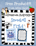 Let's Have a Class Snowball Fight FREEBIE!
