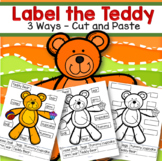Let's Label the Teddy (3 differentiated levels) FREE