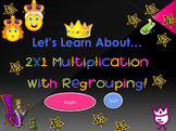 Let's Learn About 2X1 Multiplication With Regrouping! (Pow