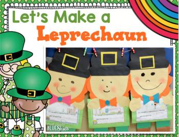 Let's Make a Leprechaun~ St Patrick's Day Glyph, Literacy, & Math Pack