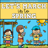 Spring Math and Literacy Centers for Kindergarten
