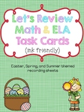 Let's Review Math & ELA Task Cards (ink friendly)