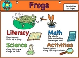 Frogs Unit Literacy, Math, & Science