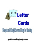 Letter Cards: Simple and Straightforward Help for Reading