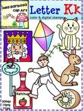 Letter Kk Phonics Clip Art for Teachers