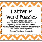 Letter P Word Puzzles